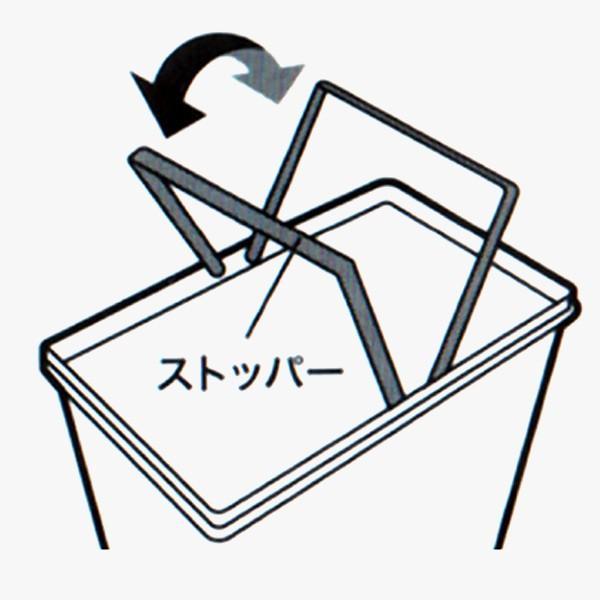 ゴミ箱 フタ付き スリム おしゃれ  45リットル 横型 キッチン リビング|usagi-shop|02