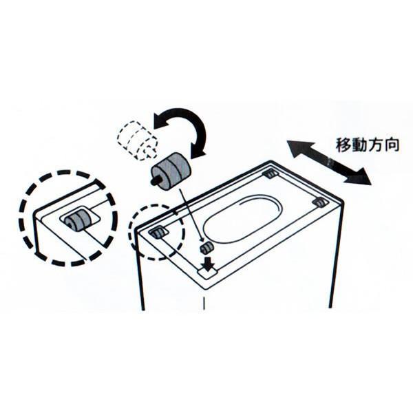ゴミ箱 フタ付き スリム おしゃれ  45リットル 横型 キッチン リビング|usagi-shop|03