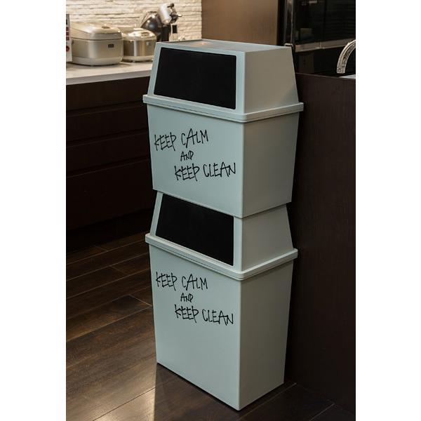 ゴミ箱 フタ付き スリム おしゃれ  45リットル 横型 キッチン リビング|usagi-shop|05