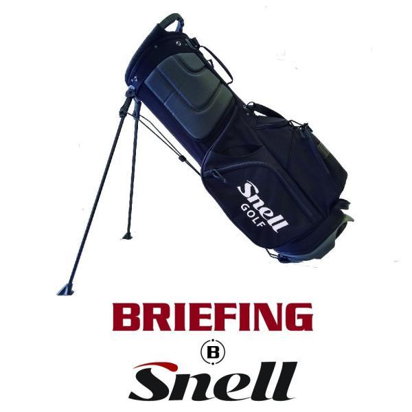 [BRIEFING x Snell] Snellロゴ入りBRIEFING(ブリーフィング)スタンドバッグ 8.5インチ usagolfstore
