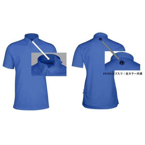 Snell ロゴ入りメンズポロシャツ FENIXブランドとのコラボレーション 吸汗速乾・UVカット|usagolfstore|03