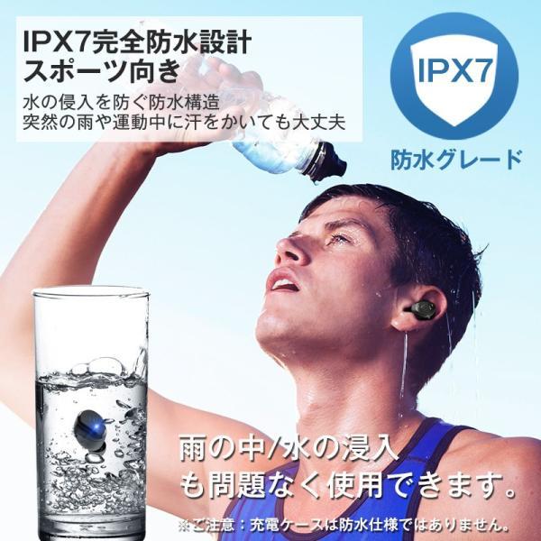 Bluetooth イヤホン 自動ペアリング Bluetooth5.0 ワイヤレスイヤホン タッチ型 高音質 IPX7防水 ブルートゥース イヤホン 完全ワイヤレス 両耳 左右分離型|usamdirect|12