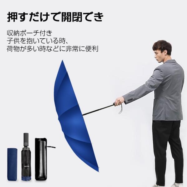 折りたたみ傘 12本骨 自動開閉 逆さ傘 大きい 逆さま傘 メンズ レディース 耐風 折り畳み傘 男女兼用 ワンタッチ 折れにくい 濡れない 晴雨兼用 遮光 撥水|usamdirect|06