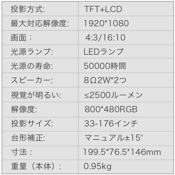 プロジェクター 小型 家庭用 1080P フルHD 2400ルーメン 高画質 スマホ パソコン スピーカー内蔵 立体音声 HDMIケーブル付属 台形補正 ホームシアター usamdirect 12