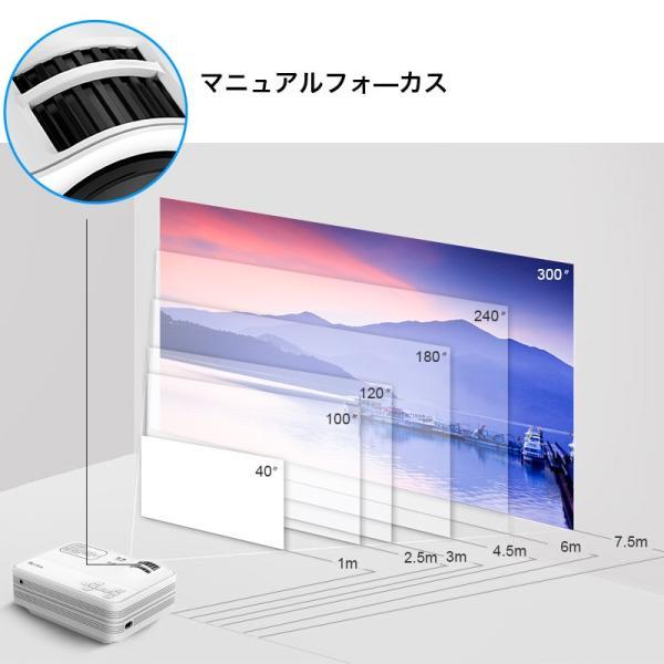 プロジェクター 小型 家庭用 1080P フルHD 2400ルーメン 高画質 スマホ パソコン スピーカー内蔵 立体音声 HDMIケーブル付属 台形補正 ホームシアター usamdirect 05