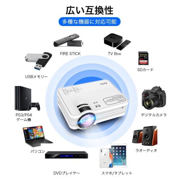 プロジェクター 小型 家庭用 1080P フルHD 2400ルーメン 高画質 スマホ パソコン スピーカー内蔵 立体音声 HDMIケーブル付属 台形補正 ホームシアター usamdirect 08