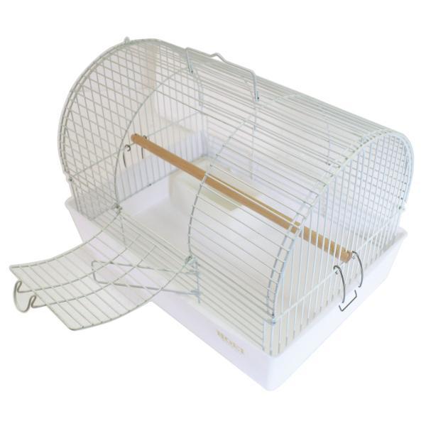 HOEI 小鳥キャリー ミレニアムアーチ ホワイト|usausarabbitry