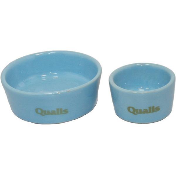 ペッズイシバシ ポッタリーS・M2個入・ブルー [衛生的な陶器の食器]