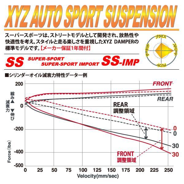 XYZ 車高調 フェアレディZ 300ZX コンバーチブル GZ CZ GCZ HZ Z32 ニッサン SS Type SS-NI02 フルタップ車高調 全長調整式車高調 30段階減衰力調整付車高調|usautotrading3|02