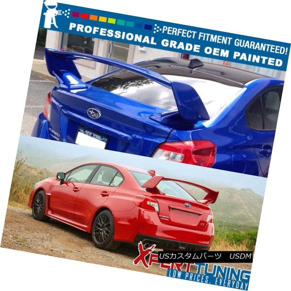 Fits 15 18 Subaru WRX STI V Style Painted Roof Spoiler Wing OEM Painted Color