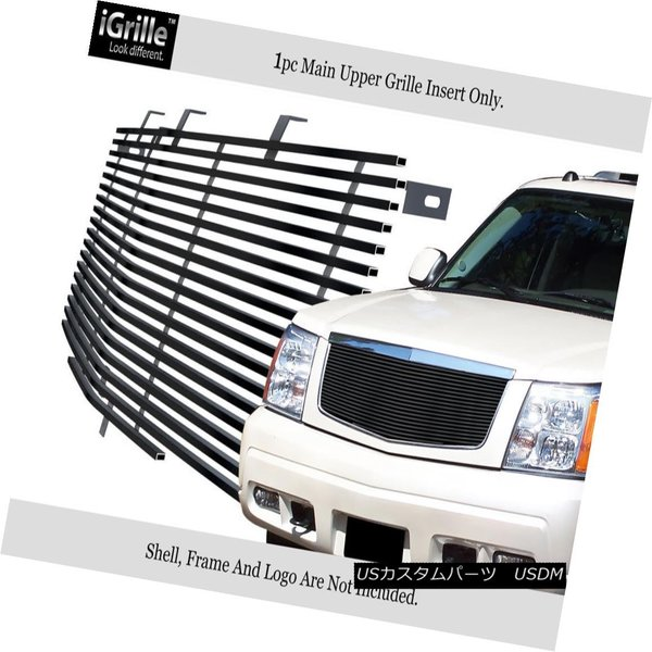 Fits 2002-2006 Cadillac Escalade//EXT//ESV Black Billet Grille Grill Insert