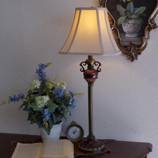 訳あり品 ランプ ライト スタンドライト アンティーク 照明 シェード おしゃれ バフェランプ BO2250BF/2 CAL lighting usf 04