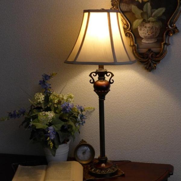 訳あり品 ランプ ライト スタンドライト アンティーク 照明 シェード おしゃれ バフェランプ BO2250BF/2 CAL lighting usf 05
