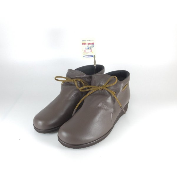 Fizzreen FIZZ REEN フィズリーン 靴 2221 ダークオーク ショートブーツ スリッポン ゴム紐 柔らかい革 軽いブーツ 履きやすいブーツ 大きいサイズ 小さいサイズ|ushijima4192ya3des-1|02