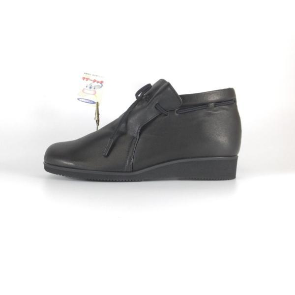 Fizzreen FIZZ REEN フィズリーン 靴 2221 クロ ショートブーツ スリッポン ゴム紐 柔らかい革 軽いブーツ 履きやすいブーツ 大きいサイズ 小さいサイズ