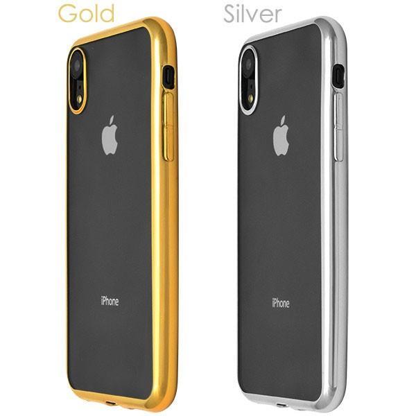 iPhone XR メタリックバンパー iPhone XS Max ソフトクリアケース カバー ジャケット 落下防止 シンプル おしゃれ アイホン xr|ushops|04