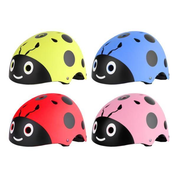 ヘルメット 子供用ヘルメット 自転車 軽量 一輪車 チャイルドシート子供乗せ ストライダー 幼児 可愛い てんとう虫 48-54cm キッズ アニマル