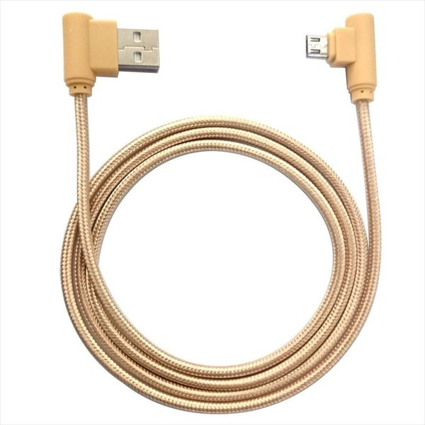 USB micro ケーブル 1m 高耐久ナイロン編み 90度 L型 断線防止 急速充電 データ転送|uskey|02