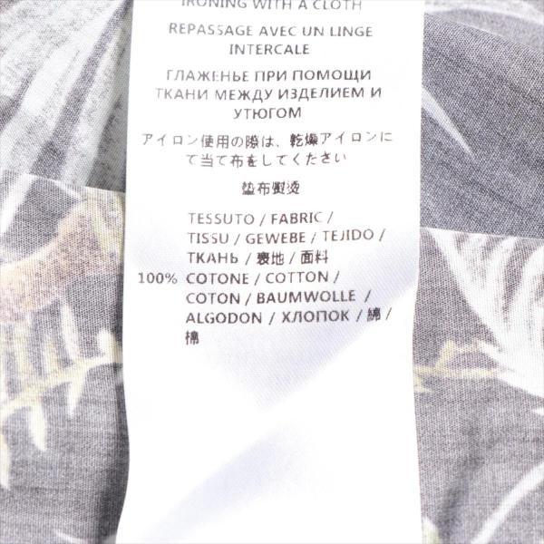 グッチ コットン シャツ サイズ38 メンズ ブラック ボタニカル柄 16SS usus 07