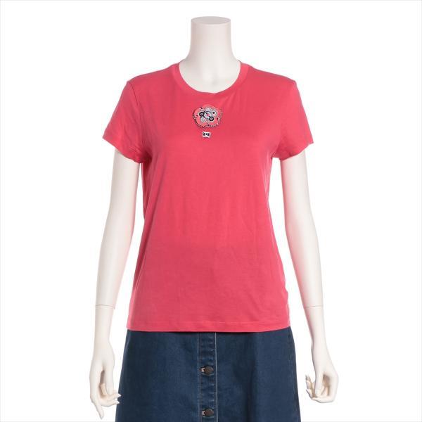 シャネル コットン Tシャツ サイズ34 レディース ピンク P37|usus