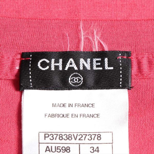 シャネル コットン Tシャツ サイズ34 レディース ピンク P37|usus|05