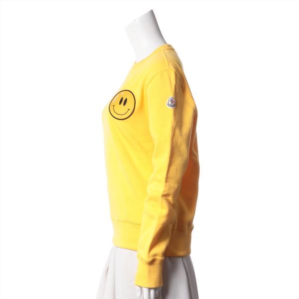 モンクレール コットン スウェット M メンズ レディース ユニセックス イエロー タグ付き スマイル 裏起毛|usus|02
