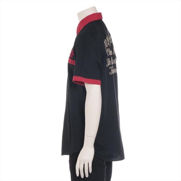 ワコマリア コットンxポリエステル シャツ XL メンズ ブラック ボーリングシャツ usus 02