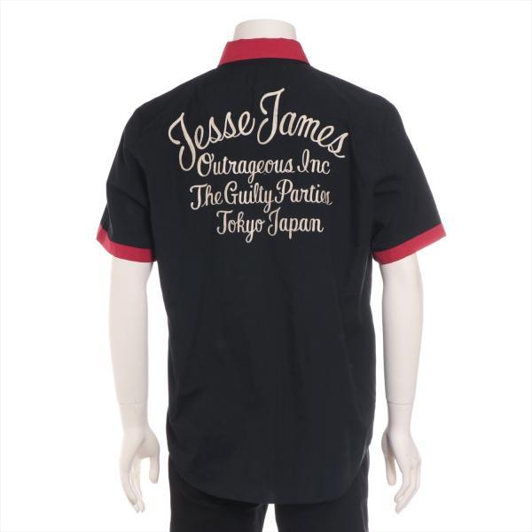 ワコマリア コットンxポリエステル シャツ XL メンズ ブラック ボーリングシャツ usus 03