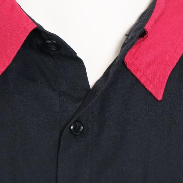 ワコマリア コットンxポリエステル シャツ XL メンズ ブラック ボーリングシャツ usus 04