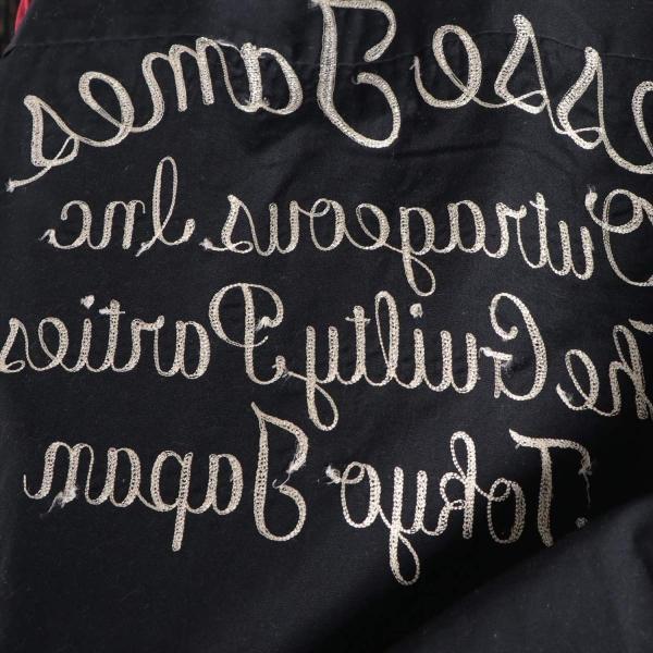 ワコマリア コットンxポリエステル シャツ XL メンズ ブラック ボーリングシャツ usus 05