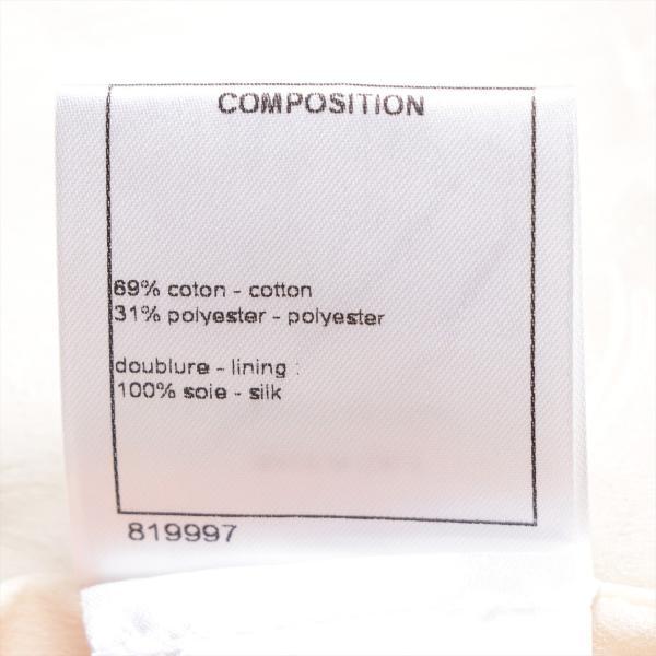 シャネル コットンxポリエステル トレンチコート 38 レディース ネイビー P53|usus|07