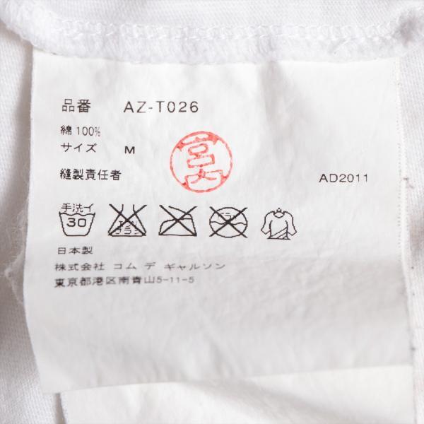 プレイコムデギャルソン コットン Tシャツ M メンズ ホワイト AD2011|usus|06
