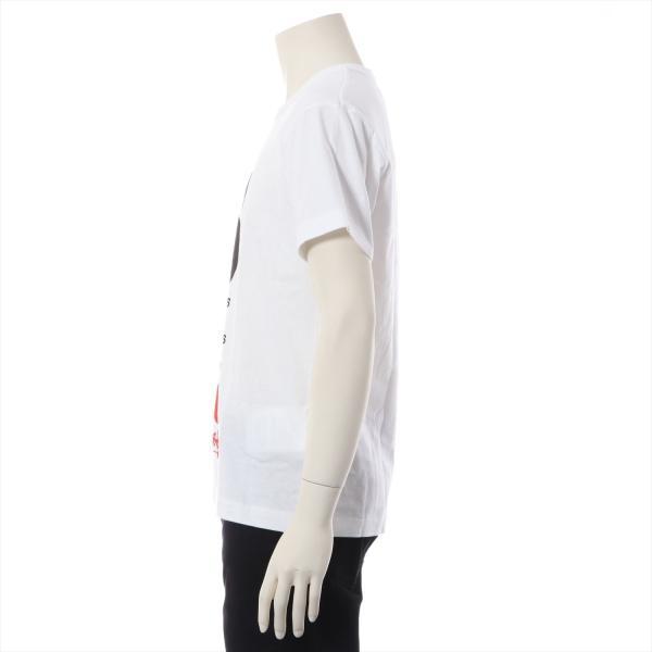 コムデギャルソンxステューシー コットン Tシャツ M メンズ ホワイト usus 02