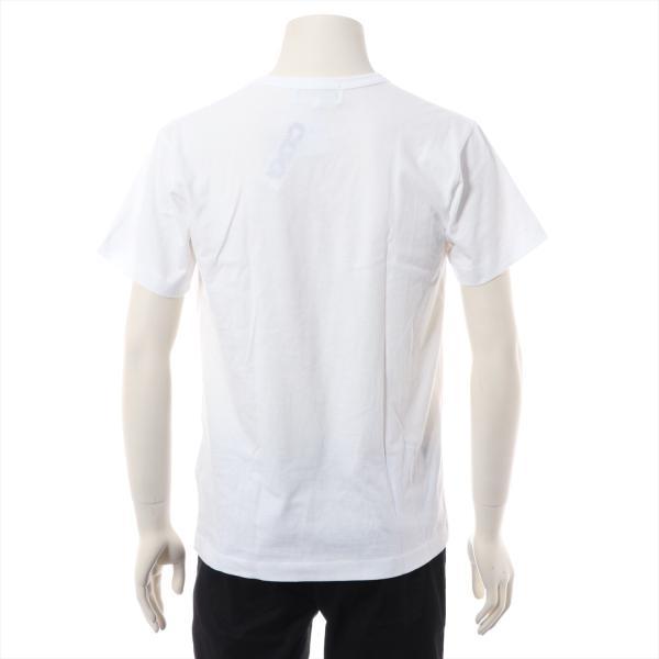 コムデギャルソンxステューシー コットン Tシャツ M メンズ ホワイト usus 03