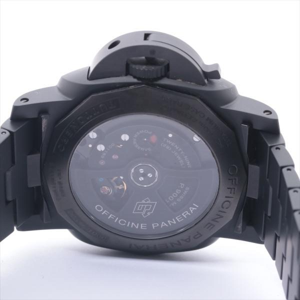 パネライ ルミノールGMT トゥットネロ PAM00438 セラミック AT 黒文字盤 usus 04