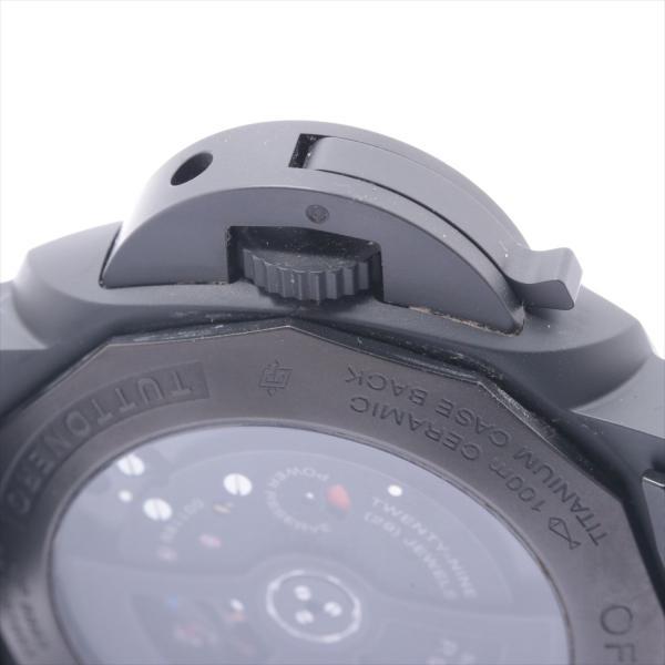 パネライ ルミノールGMT トゥットネロ PAM00438 セラミック AT 黒文字盤 usus 05