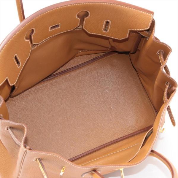エルメス バーキン35 トゴ ハンドバッグ ゴールド ゴールド金具 □I:2005年