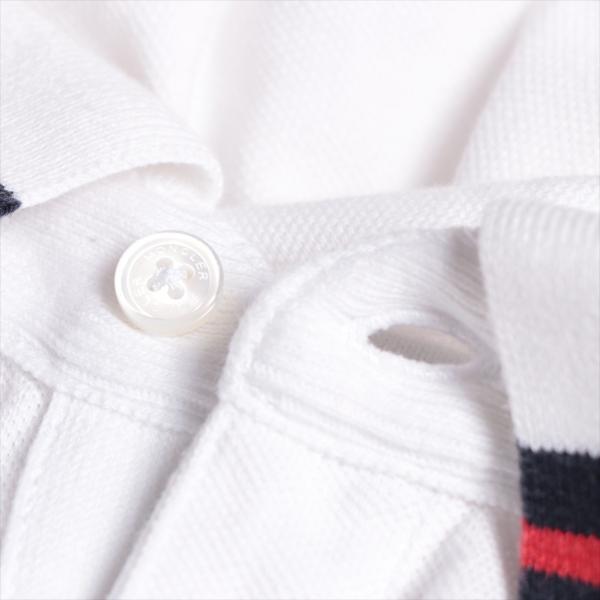 モンクレール コットン ポロシャツ S メンズ ホワイト|usus|04