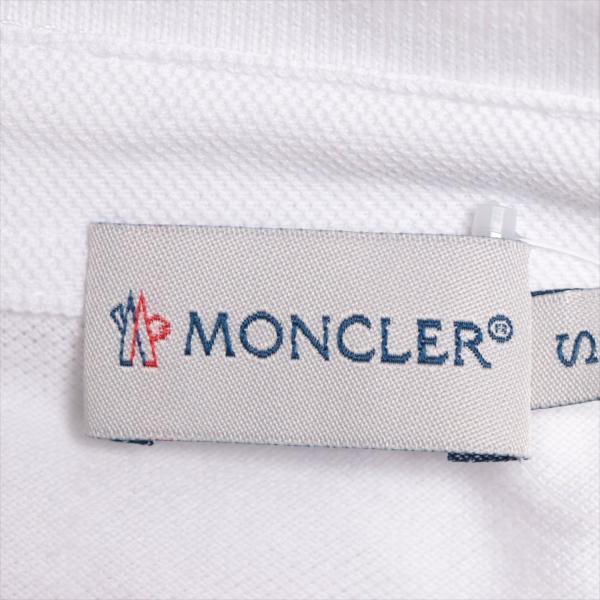 モンクレール コットン ポロシャツ S メンズ ホワイト|usus|06