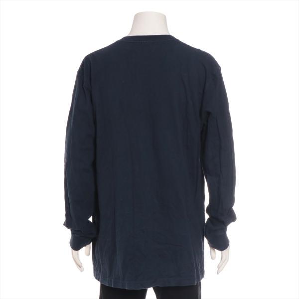 チャンピオンxシュプリーム コットン Tシャツ XL メンズ ネイビー 17AW  L/S Tee usus 03