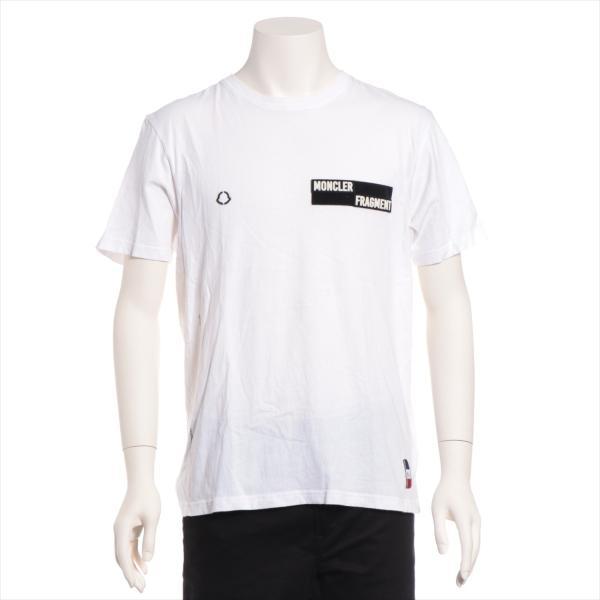 モンクレール コットン Tシャツ S メンズ ホワイト フラグメント|usus