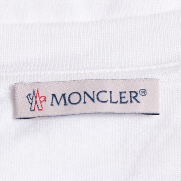 モンクレール コットン Tシャツ S メンズ ホワイト フラグメント|usus|05