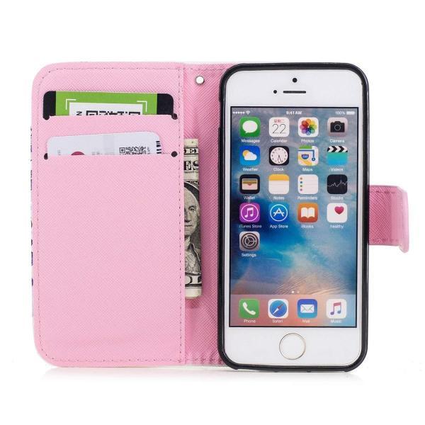 1475114e49 ... Zoeking iPhone se ケース iphone5 ケース iphone5s ケース 手帳型 財布型 PUレザー かわいい 柴犬 ...