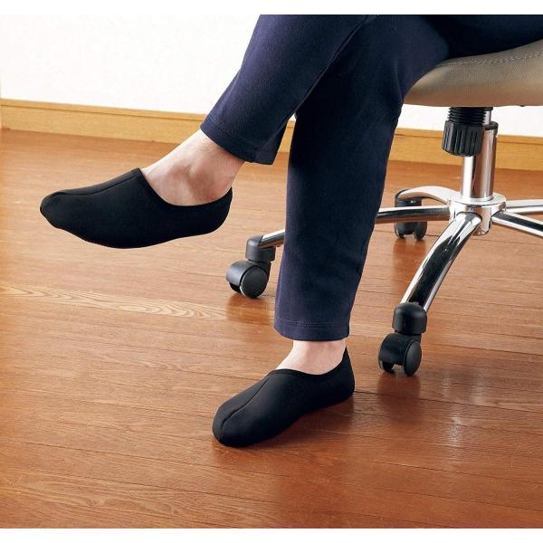 丸和貿易 ぽかぽかそっくす ショート Lサイズ ブラック 25?27cm あったか ソックス 靴下 2003929-01