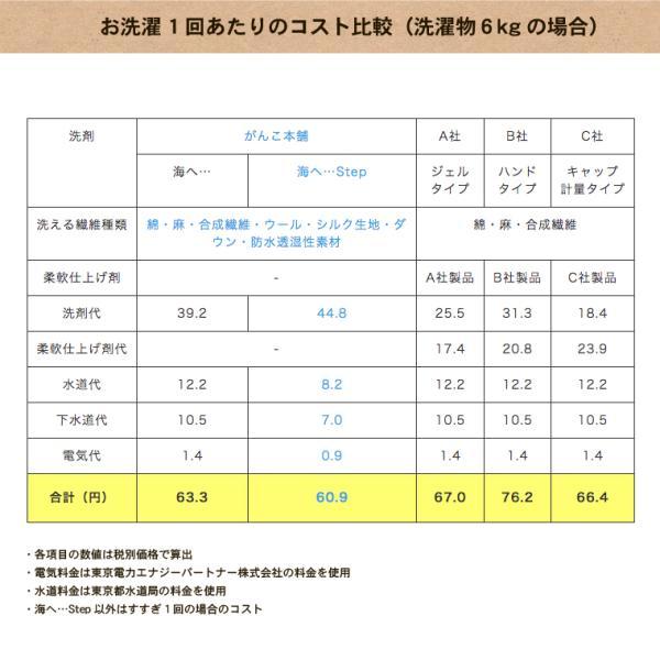 がんこ本舗 洗濯洗剤 海へ step 詰替用パック 450ml 2個セット|utikire|11