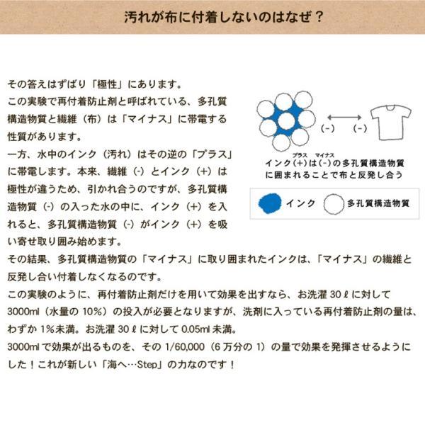 洗濯洗剤 海へ step 洗剤 詰め替え用パック450ml 3個セット utikire 07