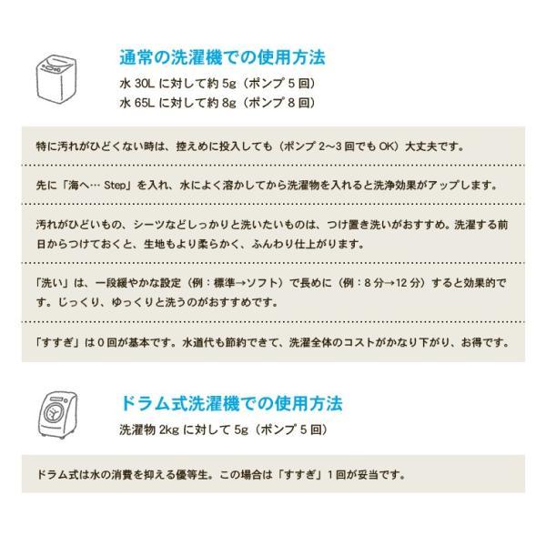 がんこ本舗 洗濯洗剤 海へ step 詰替用パック 450ml 10個セット utikire 10