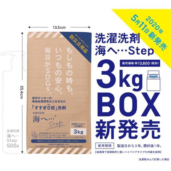 がんこ本舗 洗濯洗剤 海へ… Step 3Kg BOX|utikire|02