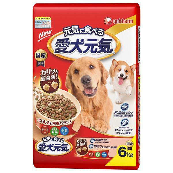 ユニチャーム 愛犬元気ビーフ野菜小魚 6kg (ドライフード/ペットフード/DOGFOOD/ドックフード/bulk)