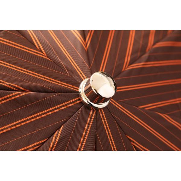 Maglia Francesco マリアフランチェスコ 折畳傘 メンズ ハンドメイド ストライプ ブラウン 茶 並行輸入品